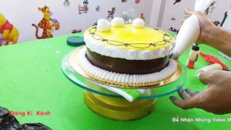 Hướng dẫn Trang Trí bánh kem sinh nhật Cực Đẹp | birthday cake - Cùng Với CuTung TV
