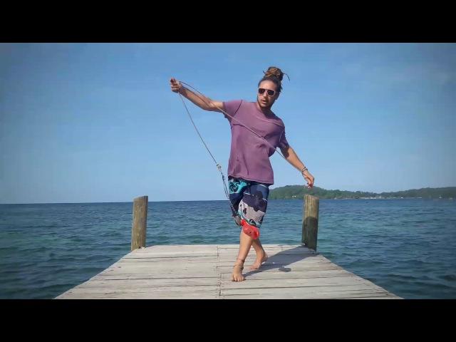 Rope Dart - Double Knee Shot Kick Combo Fire Drums 2017