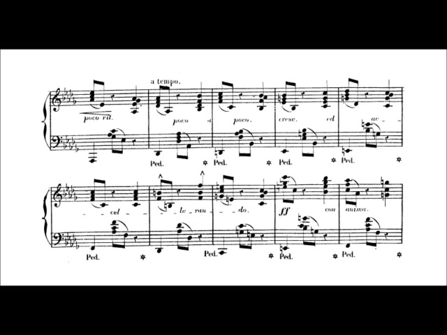 Teresa Carreño - La falsa nota Op. 39 (audio sheet music)