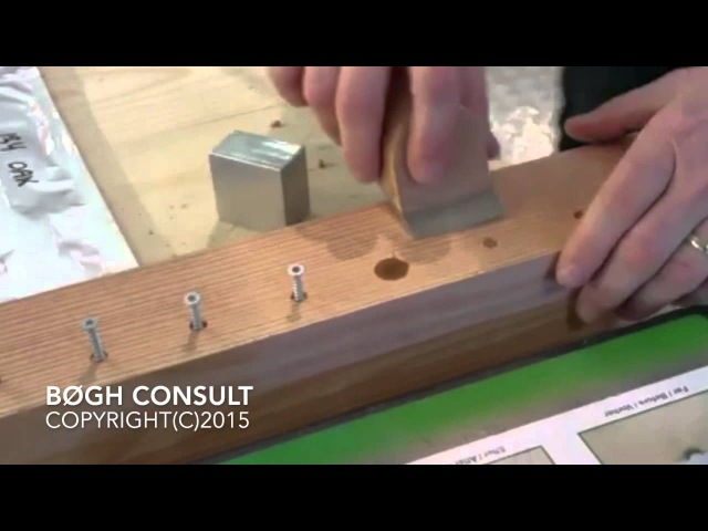 Knot Filler - How to cover screws with knot filler