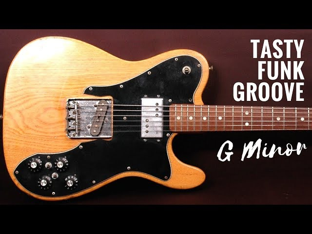 Tasty Funk Groove | Guitar Backing Track Jam in Gm