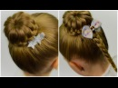 2 in 1 Lace Braided Bun Quick and Easy hairstyle for little pricess 42