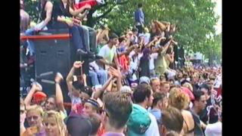 Loveparade 1993 - Berlin Kurfürstendamm - original sound