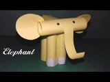 How to make a paper Elephant for kidsDIY Easy Elephant tutorialPaper craftsE for Elephant