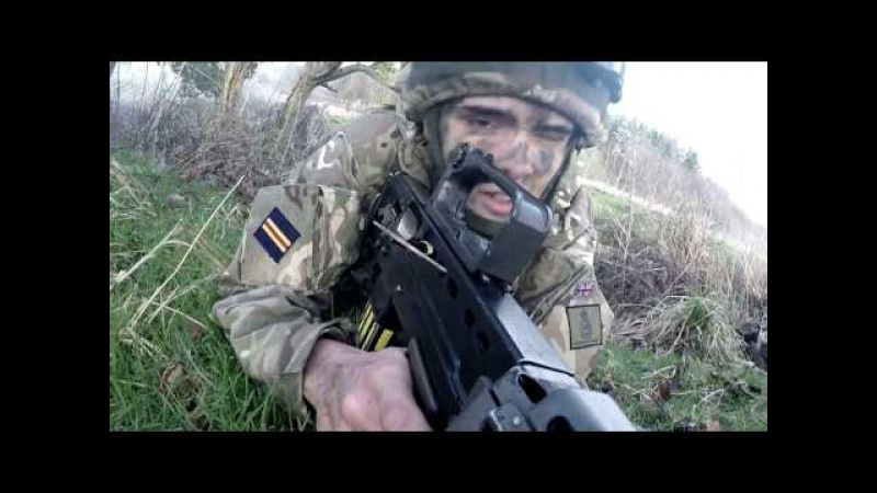 Urban Warrior exercise for Officer Cadets British Army
