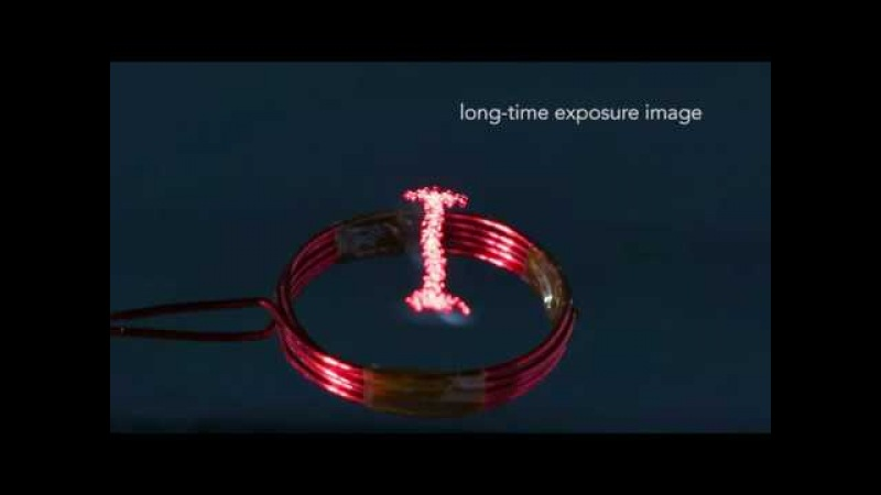 Luciola A Millimeter-Scale Light-Emitting Particle Moving in Mid-Air