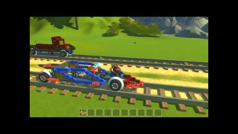 Scrap Mechanic. Гонка поршневых машин, первый отборочный этап / steam wheels racing