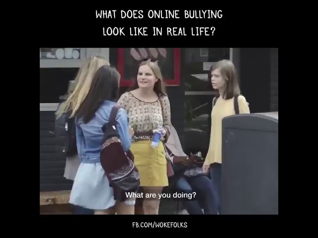 What does online bullying look like in real life?