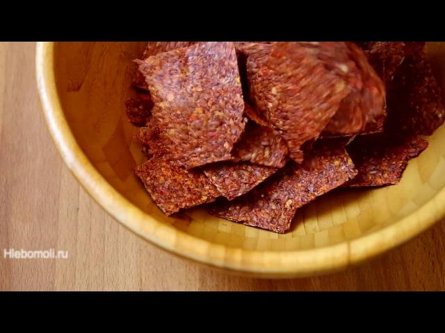 Томатно льняные чипсы в дегидраторе