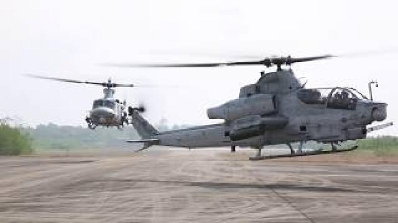 AH-1Z Viper and CH-53E Super Stallion Land in Thailand