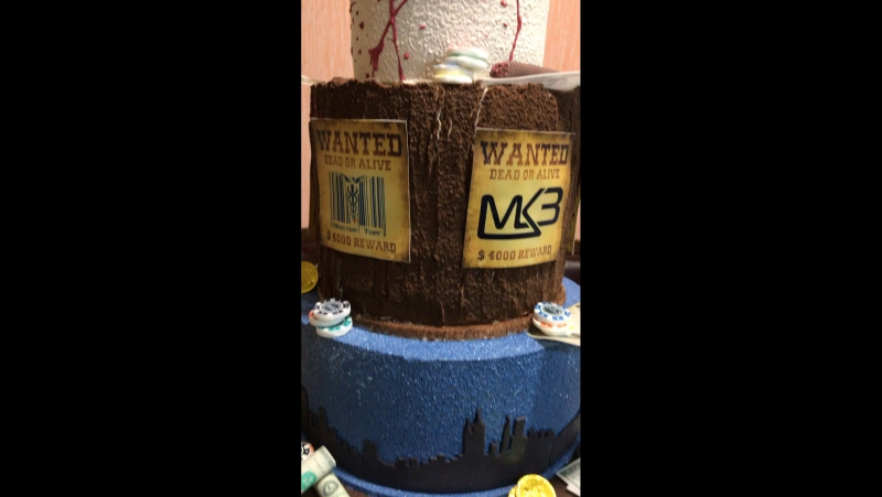 Торт на гангстерскую вечеринку