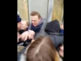 Задержание Навального на митинге 28 января