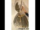 Костюм с золотыми крыльями