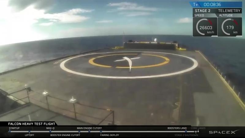 Илон Маск успешно запустил Falcon Heavy