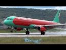 Посадка Airbus A321-231 UR-WRH WINDROSE 7W8911 в LTAI Анталия