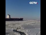 Замерзшее море в северо-восточном Китае