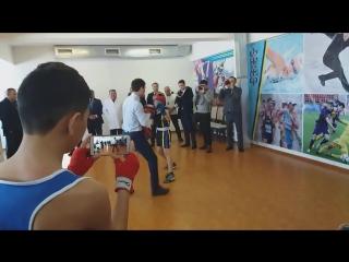 Серик Сапиев в городе Саркан