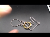 H105  /  Big E Metal Ring Solution Intellectual Deduction Unlock Traditional Entertainment Toys Puzzle Adult