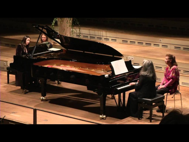 Martha Argerich Cristina Marton playing Milhaud Scaramouche at Tonhalle Zürich