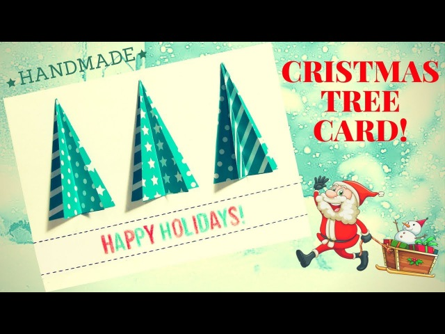 Christmas Tree Card 3d card making step by step crafts - Hand made