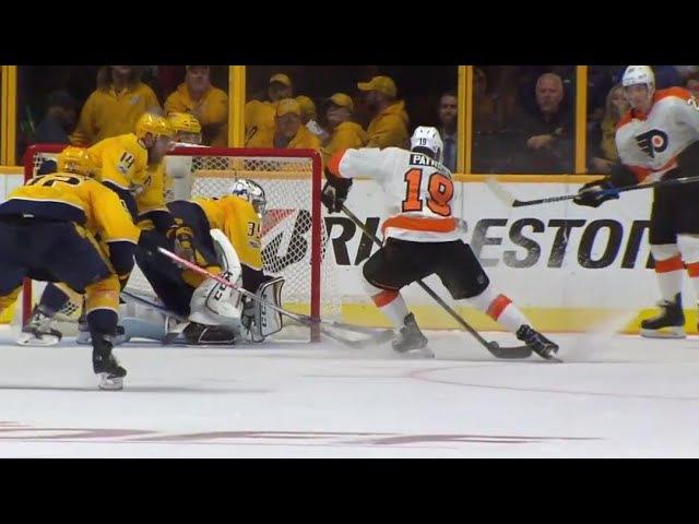 Первый гол Нолана Патрика в НХЛ в матче с «Нэшвиллом»
