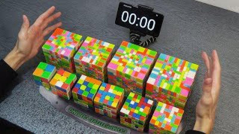СОБРАЛ 10 САМЫХ РАЗНЫХ КУБИКОВ РУБИКА 2х2 - 11х11   самая сложная головоломка