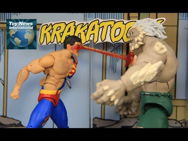 DC Icons Death Of Superman 6 Doomsday Vs Superman Diorama Figure Set Review