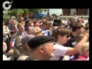 Митинг против концерта Мерлина Менсона прошел на площади Ленина