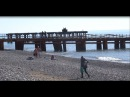 Пляж ЖК Сан-Марина . Купаются и загорают в Лазаревском. Погода 10 февраля 2018