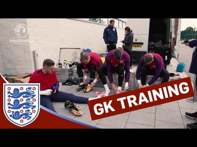 Goalkeeper Training: long-range strikes with Hart, Pickford, Forster Butland | Inside Training