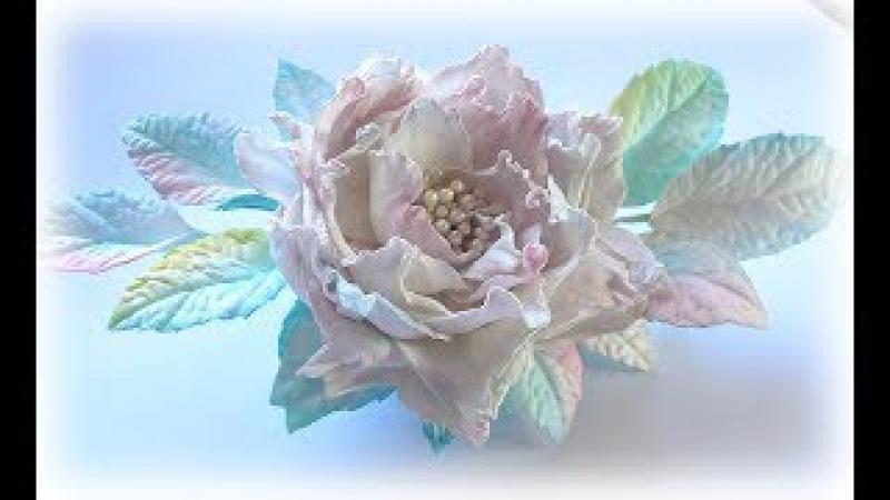 МК Эксклюзивное украшения из фоамирана. Цветы из фоамирана