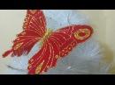 Mariposa navideña, fácil y economico