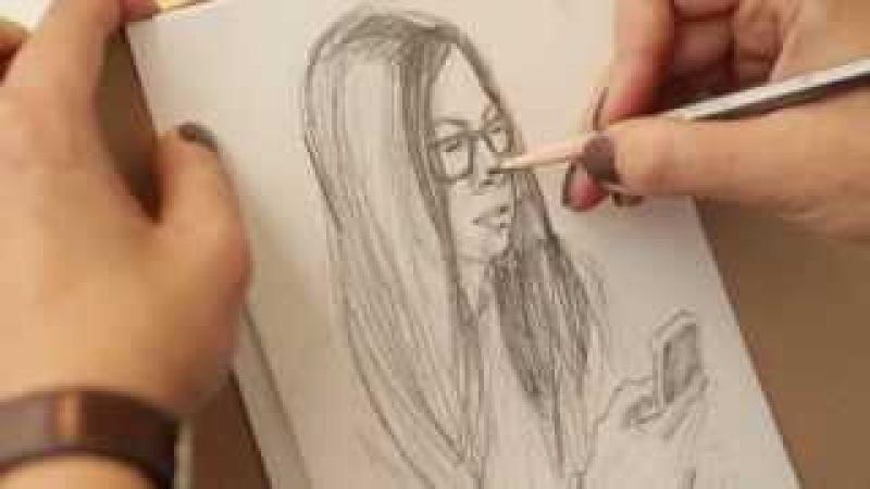 Уроки рисования с Олесей Бершадской. Скетчинг. Видеоуроки рисунка и графики от Art Metier