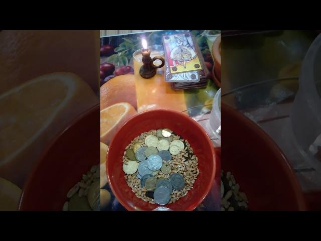 Обряд на деньги с пшеницей