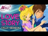 Winx Club Stella and Brandon's love story from Season 1 to Season 7