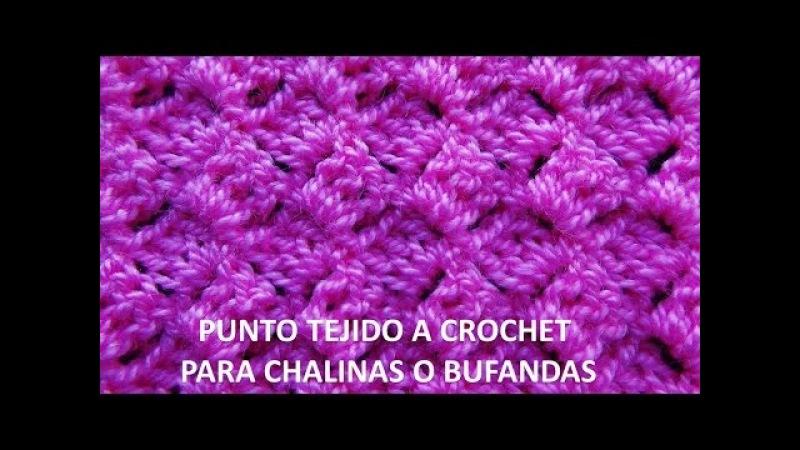Punto tejido a ganchillo 7 para chalinas o bufandas