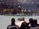 Renault F1 car on snow in Ski Dubai