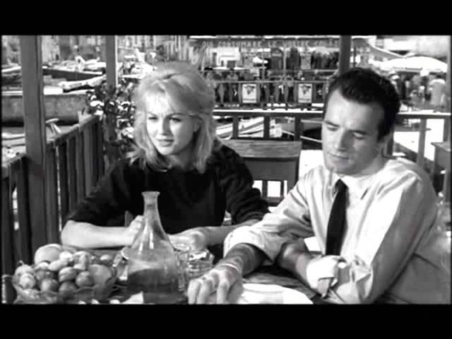 L'inassouvie Un amore a Roma Mylène Demongeot, Elsa Martinelli and Peter Baldwin 1960