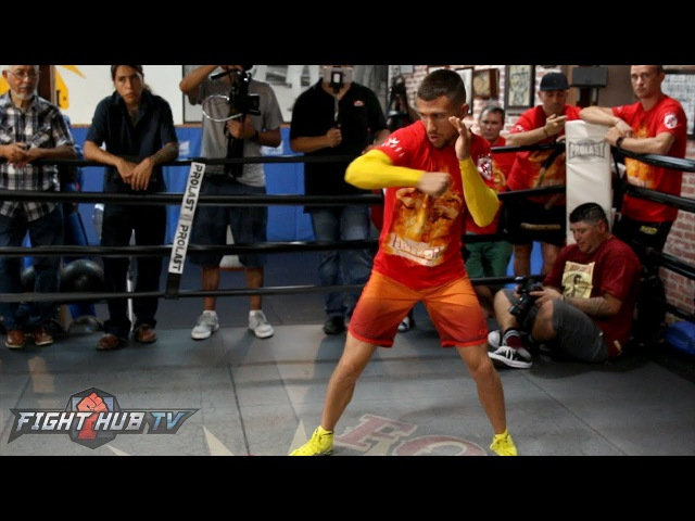 Vasyl Lomachenko's FULL shadow boxing workout - Lomachenko vs. Marriaga video