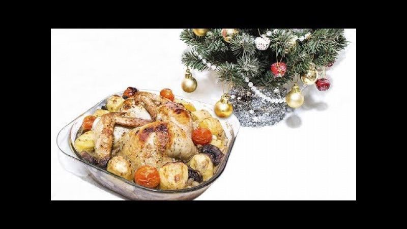 Курица Бабочка в пивном маринаде запеченная в духовке.