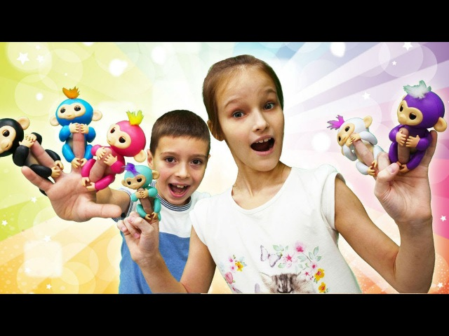Интерактивные игрушки - обезьянки - видео для детей