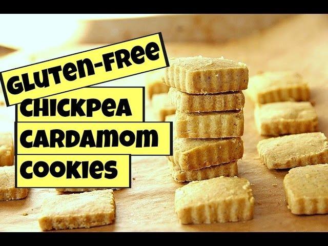 CHICKPEA CARDAMOM COOKIES!! (NAN-E NOKHOCHI) | GLUTEN-FREE VEGAN