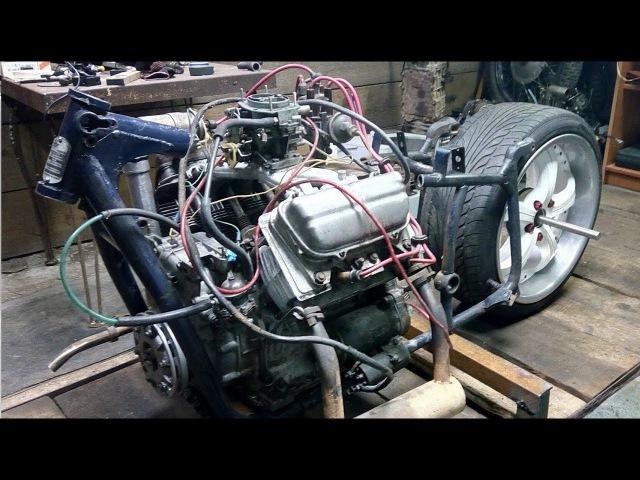 Часть 5. Двигатель в раме! Зазоцикл будет БОМБА Мотоцикл своими руками из днепра.