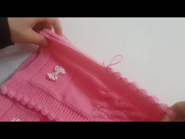 Burgulu Tek Parça Bebek Yeleği bebekyeleği knitting вязание вязаниедетям вязаниекрючком