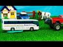 Мультик про машинки. Автобус, Грузовик, Трактор, Монстр Трак, Машина МЧС . Серия 246 Мир Машинок