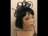 How to make a fascinator, quick and easy DIY loop headpiece tutorial