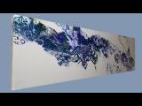 77 Acrylic Flip &amp Drag with Negative Space #NovemberPouringChallenge