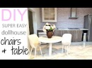 DIY very easy dollhouse chairs table