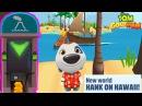 Talking Tom Gold Run - New World Map Hank on Hawaii - Neon Lights and City Sights Character Unlocked