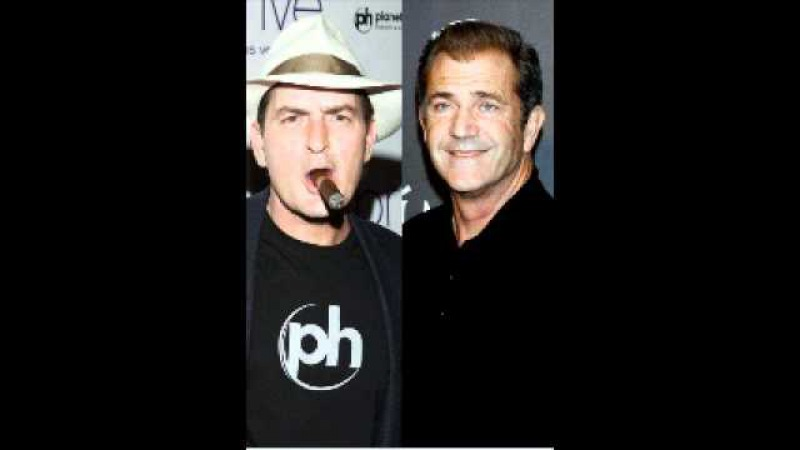 Mel Gibson argues with Charlie Sheen